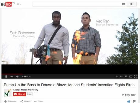 Video ghi cảnh chiếc loa dập lửa hút hơn 2 triệu lượt xem…