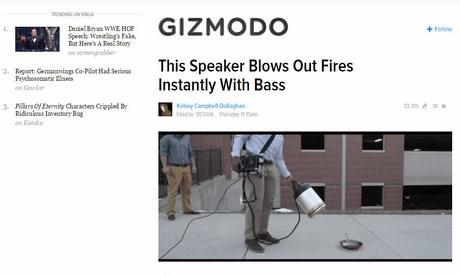 Blog công nghệ Gizmodo.
